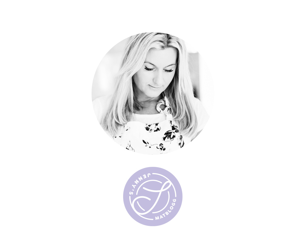 Profilbild på Jenny Warsen, som driver Jennys Matblogg, och hennes logga