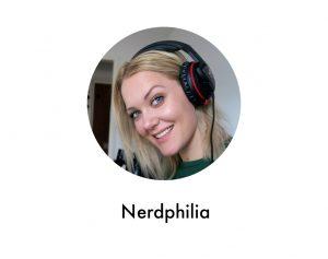 Profilbild på Nerdphilia med text