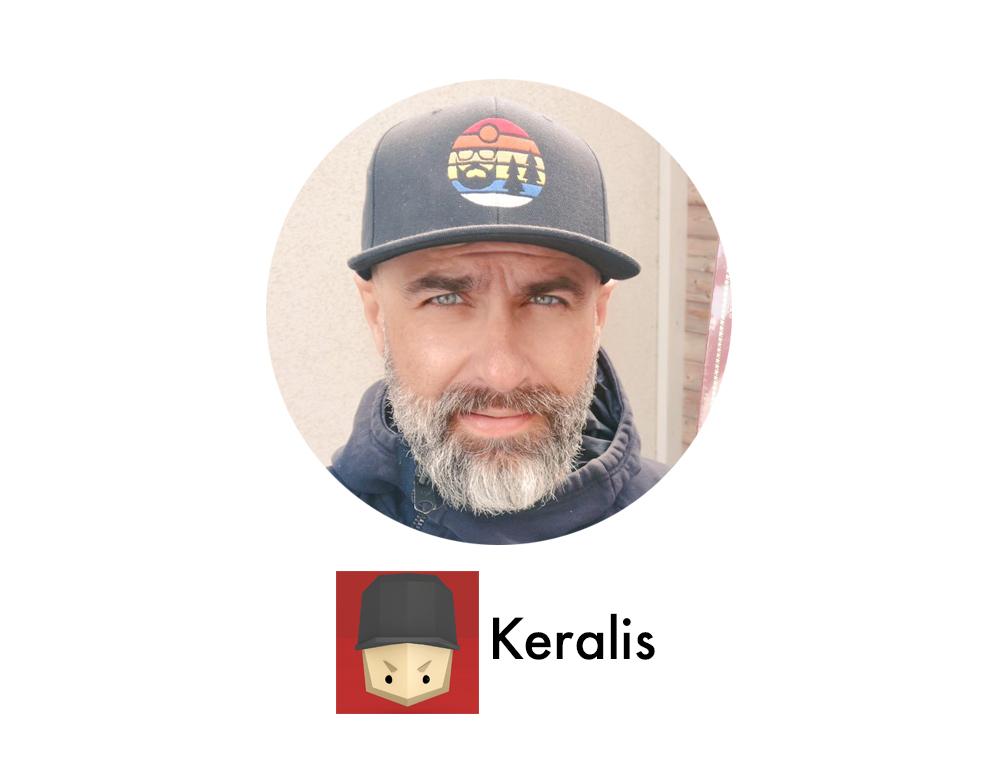 Profilbild på Keralis med text och logga