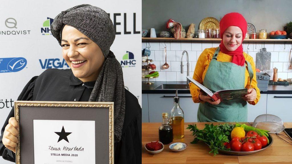 Zeinas kitchen i köket och lagar mat influencer marketing