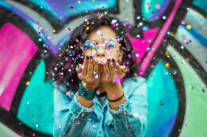influencer marketing misstag confetti och influencers på event